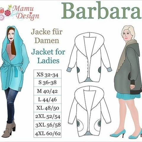 Jacket BARBARA Pattern Size XS - 4XL