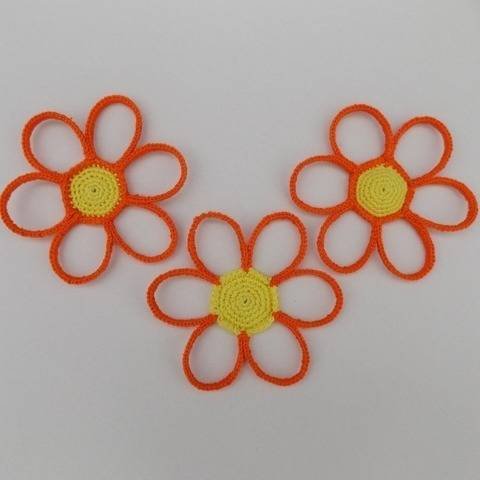 Crochet daisy flower coasters pattern, home decor, accessory