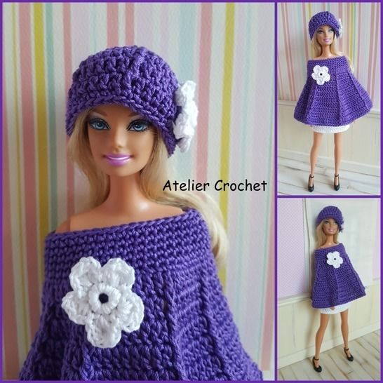 """Snowdrop"" crochet pattern for Barbie at Makerist - Image 1"