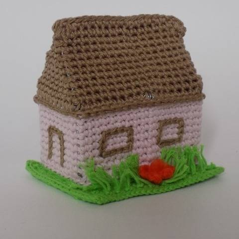 Crochet Amigurumi Toy House for Home Decor