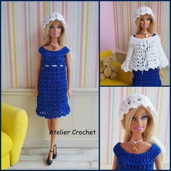 """Anne Charlotte"" crochet pattern for Barbie at Makerist - Image 1"