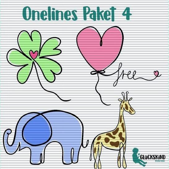 Oneline Plotts Paket 4 bei Makerist - Bild 1