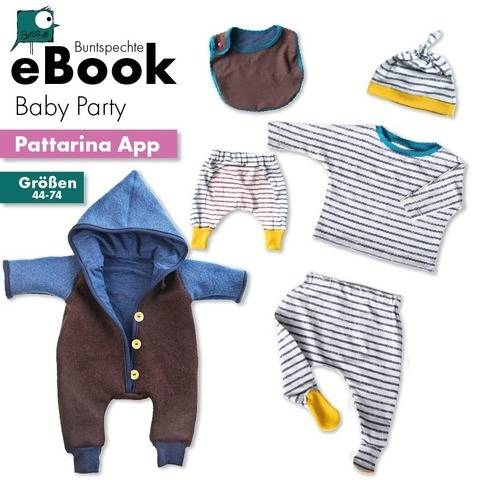 "Pattarina Code & Ebook ""Baby Party"" 44 - 74 Overall Mütze"