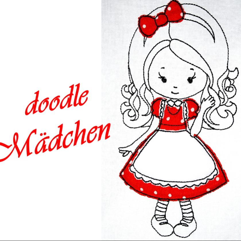 cute Mädchen Stickdatei ♥ sweet Girl ♥ Goldlöckchen