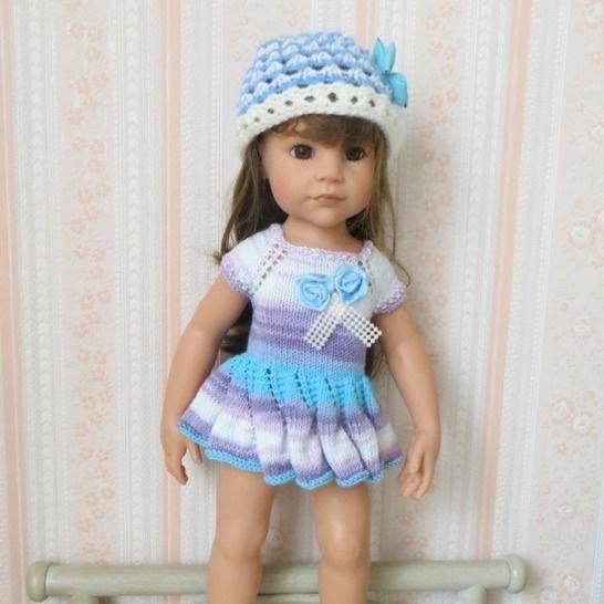 Fiche patron tricot  G09  pour poupée Hannah de Gotz chez Makerist - Image 1