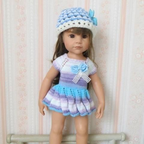 Fiche patron tricot  G09  pour poupée Hannah de Gotz chez Makerist