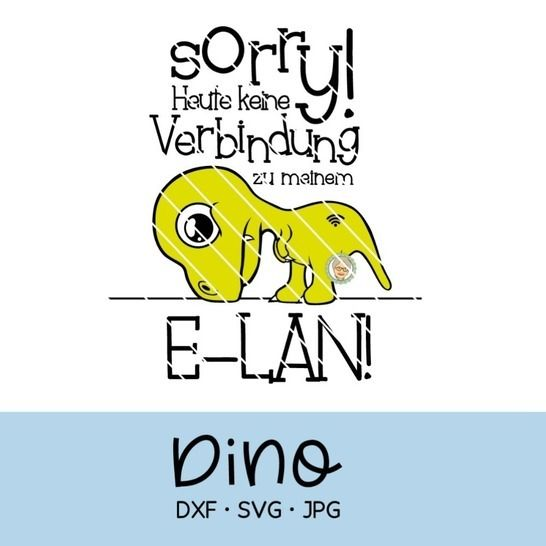 Plotterdatei Dino, T-Rex, kein E-LAN, keine Motivation bei Makerist - Bild 1