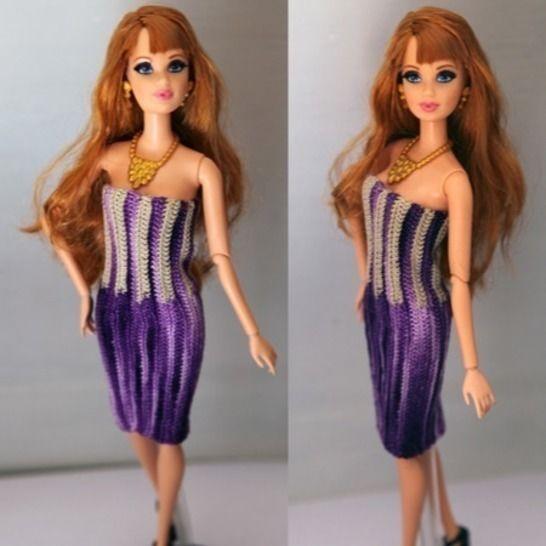 Deep purple dress - Robe Barbie au crochet chez Makerist - Image 1