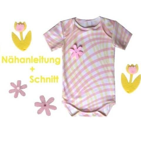 Schnittmuster + Anleitung Babybody 68-92 bei Makerist