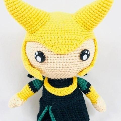 Loki, mythologie nordique - patron au crochet chez Makerist