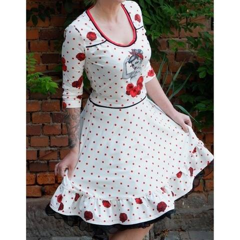 Jerseykleid Betty's best dress, Schnittmuster Gr. 34-50