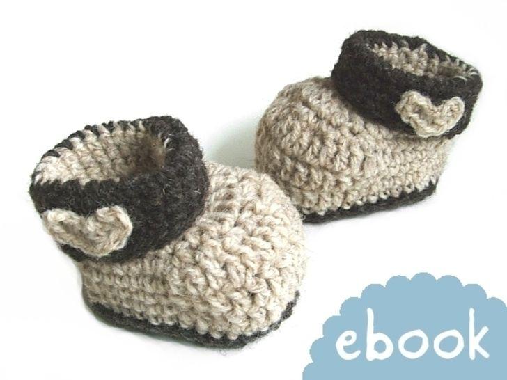 ❤ Häkelanleitung ❤ Woolen Baby Booties bei Makerist - Bild 1