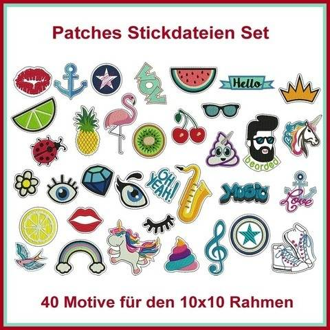 Stickdateien Patches Patch Aufnäher Sticker 45x ab 10cm