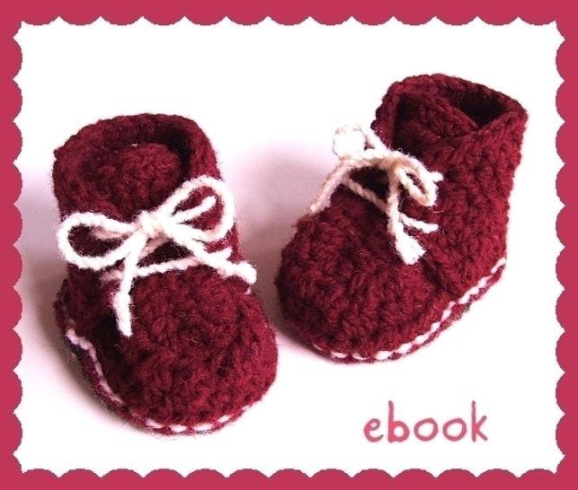 ❤ Häkelanleitung ❤ Red Baby Booties bei Makerist - Bild 1