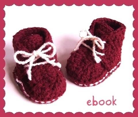 ❤ Häkelanleitung ❤ Red Baby Booties bei Makerist