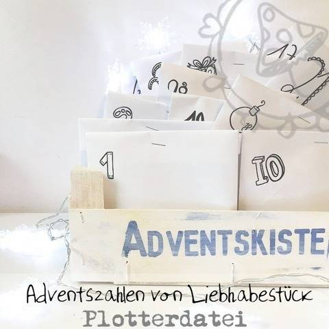 Plotterdatei Adventszahlen