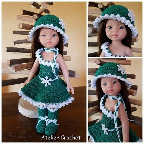 """Christmas in green"" crochet pattern for Paola Reina  at Makerist"