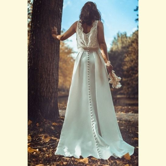 Exquise patron de couture robe de mariée et version cocktail chez Makerist - Image 1