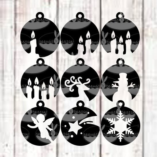 Cutting File Christmas Bowls SVG DXF at Makerist - Image 1