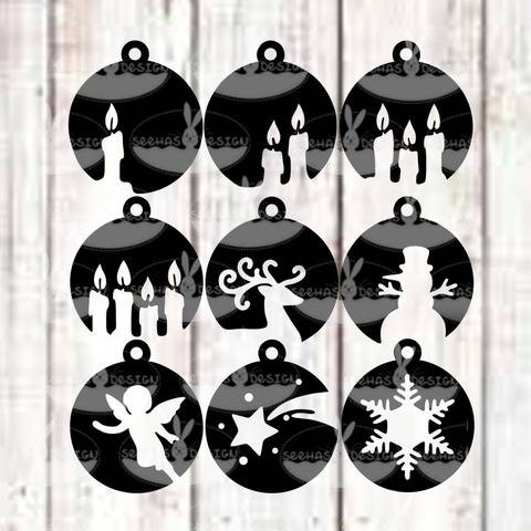 Cutting File Christmas Bowls SVG DXF