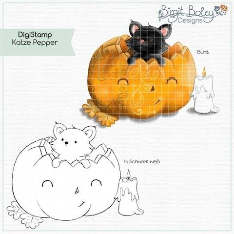 Birgit Boley Designs • DigiStamp Katze Pepper
