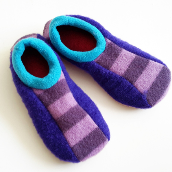 Upcycled Sweater Bowling Slippers
