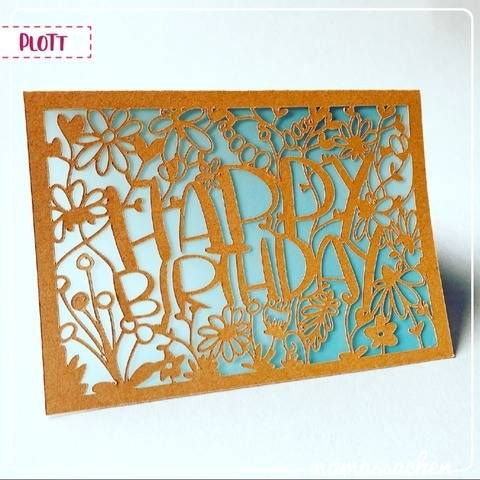 "Karte ""Happy Birthday 