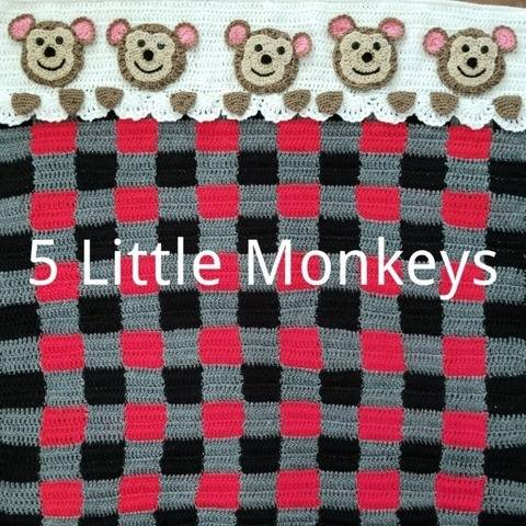 5 Little Monkeys Baby Blanket