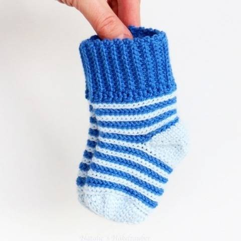 Weiche Baby- & Kindersocken (stricklook) bei Makerist