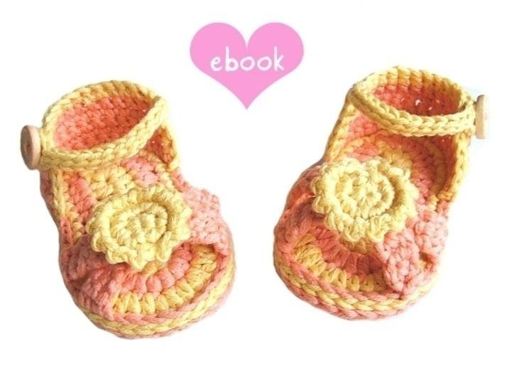 ❤ Häkelanleitung ❤ Sunshine Sandals bei Makerist - Bild 1
