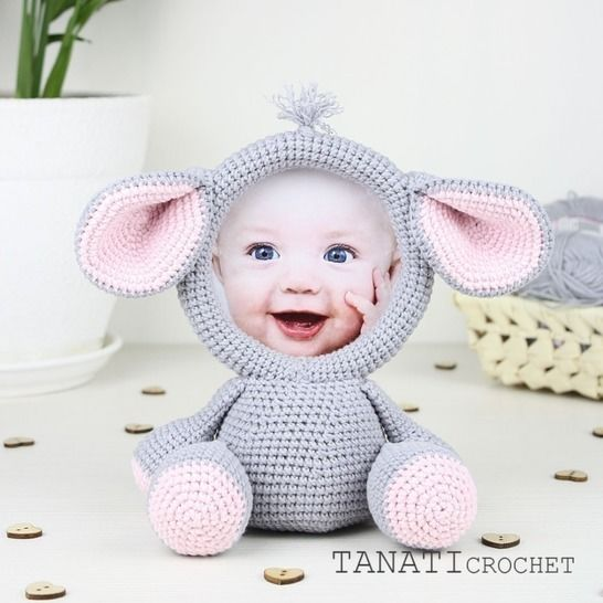 "TUTORIEL CROCHET ""Cadre photo ELEPHANT"" chez Makerist - Image 1"