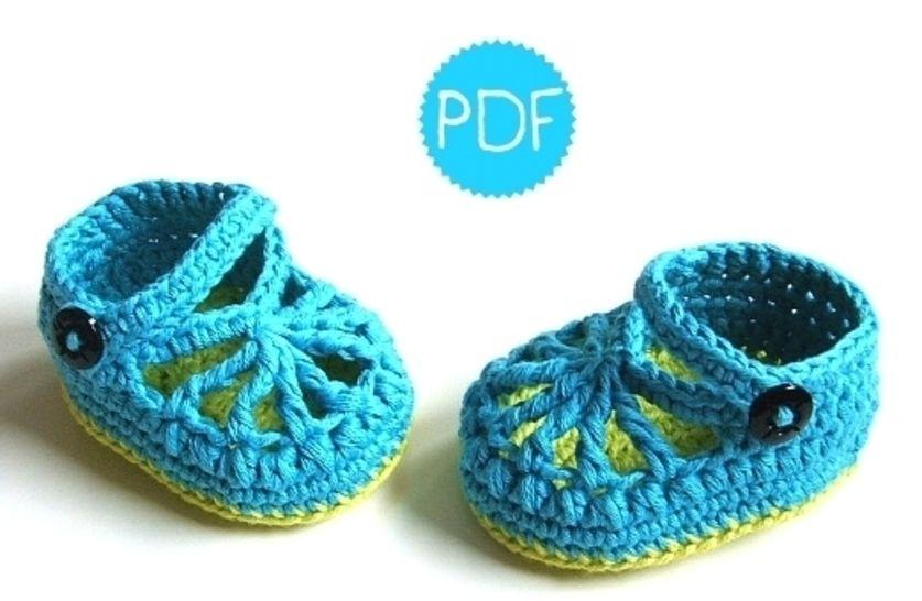 ❤ Häkelanleitung ❤ BlueGreen Baby Loafers bei Makerist - Bild 1