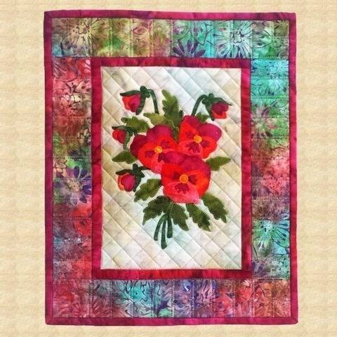 Pansies Quilted Wall Hanging Pattern at Makerist