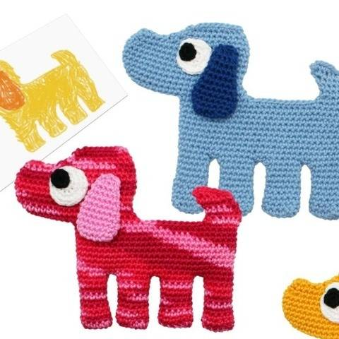 Dog - to cuddle and explore - Crochet Pattern