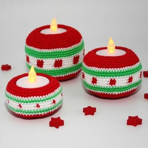 Tealight Holders - Christmas - Crochet Pattern