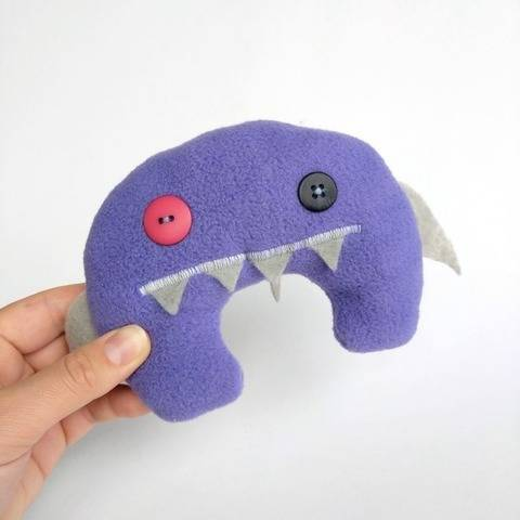 Shark Monster Plush Toy Sewing Pattern at Makerist