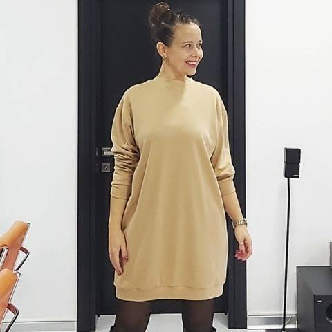 OLIVE the sweatshirt dress - PDF sewing pattern at Makerist