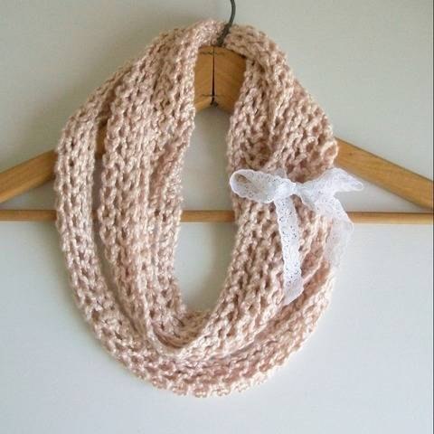 Beachy Boho Circle Scarf