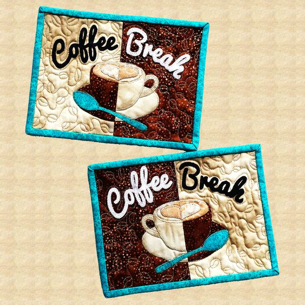 Coffee Break Quilted Mug Rugs Pattern