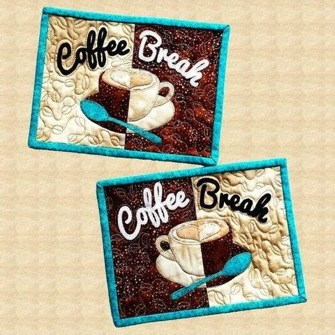 Coffee Break Quilted Mug Rugs Pattern at Makerist