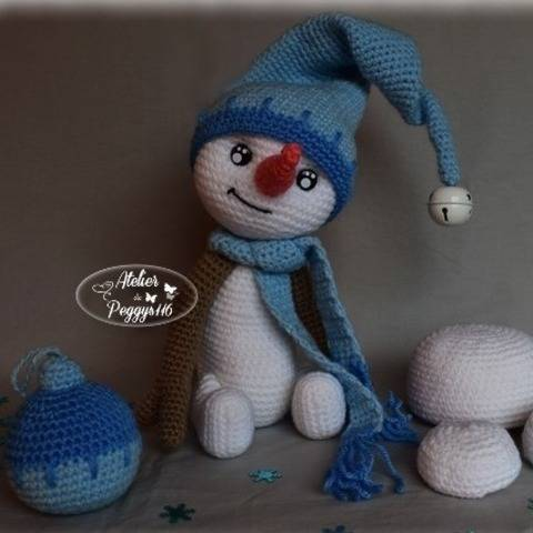 Snowly, the snowman at Makerist