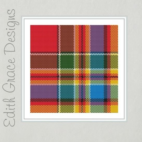 Chattan Tartan Square Embroidery Pattern at Makerist - Image 1