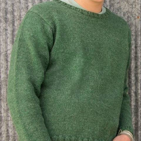 Glasgow Top-Down Pullover #B105 at Makerist