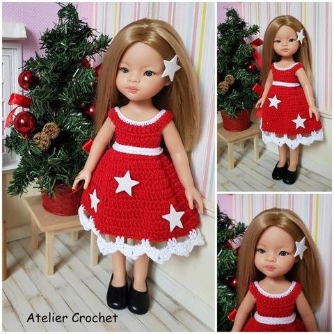 """A christmas star"" crochet pattern for Paola Reina"