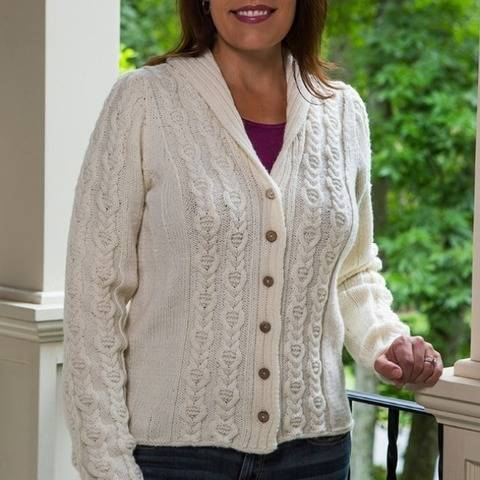 Cable Panel Cardigan #188 at Makerist
