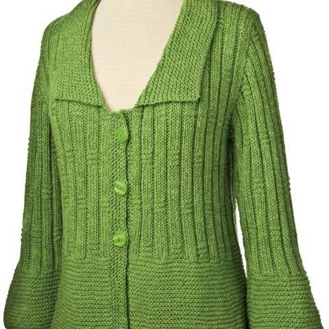 Garter and Rib Cardigan #183 at Makerist