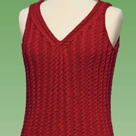 Cable Tank Top #177 at Makerist