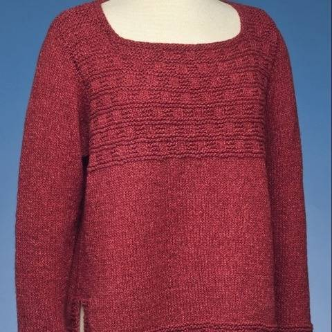 Square Neck Side Slit Pullover #174 at Makerist