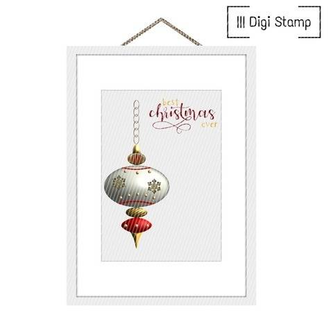 Christbaumkugel | DigiStamp & DigiPapiere