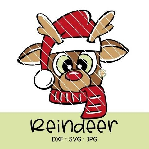 Cutting file reindeer - multicolored cute plot file